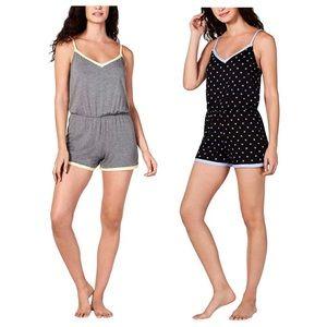 Contrast-Trim Pajama Romper - Comfy Sleepwear NWT!